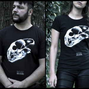 Bear Skull // Archaïq. // Black T-Shirt (Male)