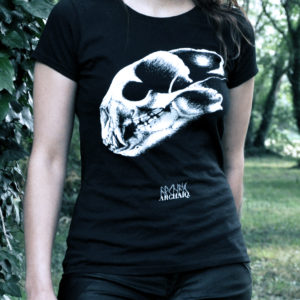 Bear Skull // Archaïq. // Black T-Shirt (Female)